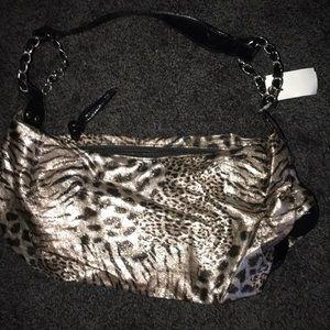 Animal print hobo bag